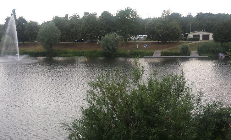 Boothaus von Brücke